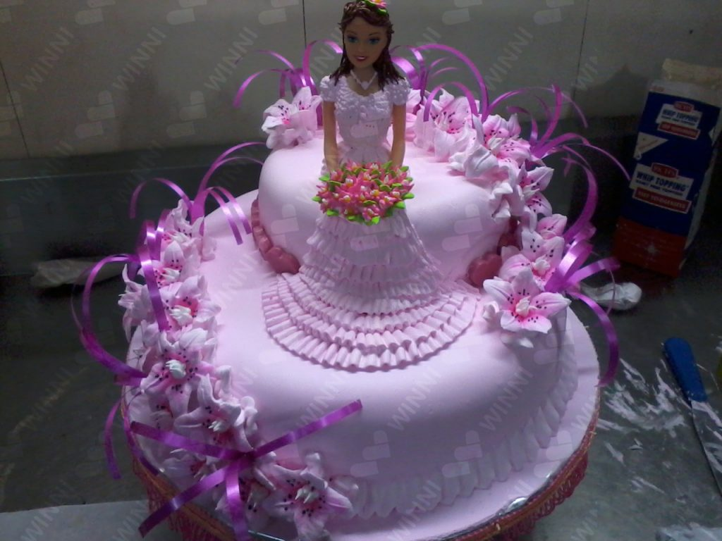 Online Cake Delivery In Bangalore Fondant Barbie
