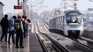 Metro ride in Hyderabad
