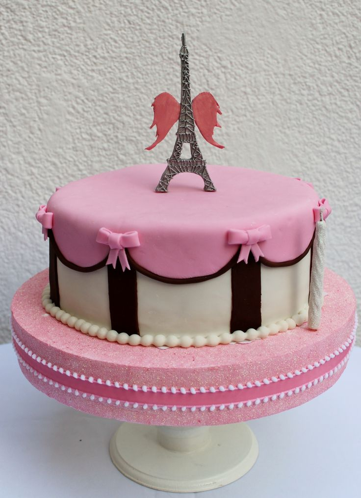 A Cake Which Is Specially Made For Cute Little Angles Among The Most Girls Want To Visit Eiffel Tower Once So This Reflecting Same By Adding
