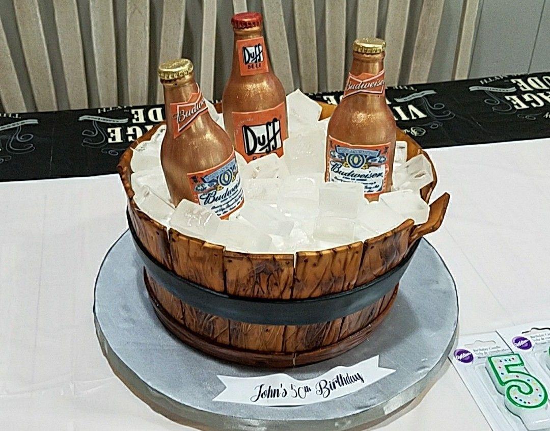Beer Bucket Cake