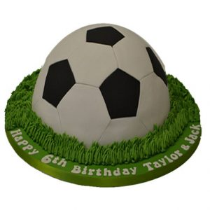 Football Chocolate Fondant Cake