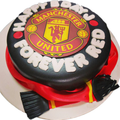 Magnificent Manchester United Cake Winni Celebrate Relations Birthday Cards Printable Nowaargucafe Filternl