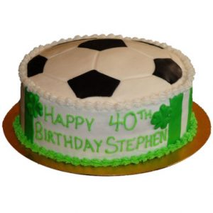 Football Black Forest Cream Cake