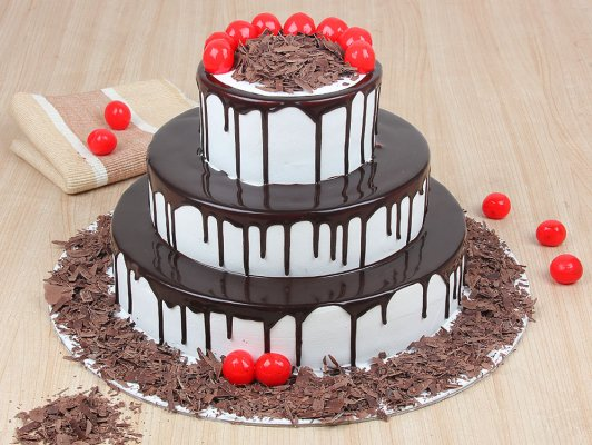 2 Tier Choco Vanilla Cake