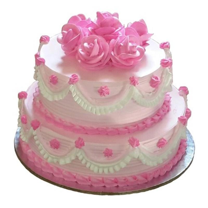 3-Tier Strawberry Cake