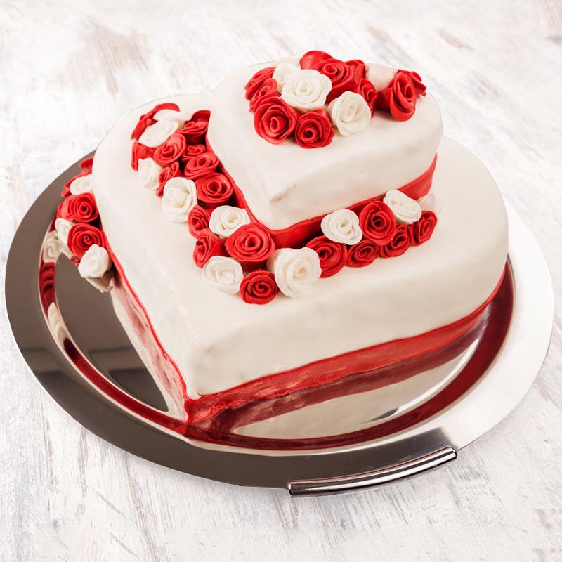 Strawberry 2 Tier Cake