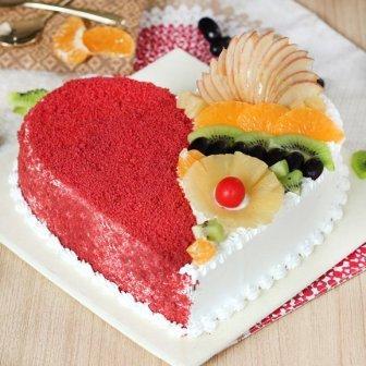 Heart-Shape Fruit Cake