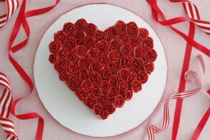 A Heart Shape Cake