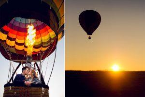 Love Proposal in the Air: Hot Air Balloon
