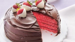 Love Confessing Choco Strawberry Cake