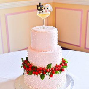 Pink Champagne Wedding Cake