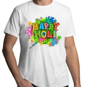 Happy Holi Printed T-Shirt