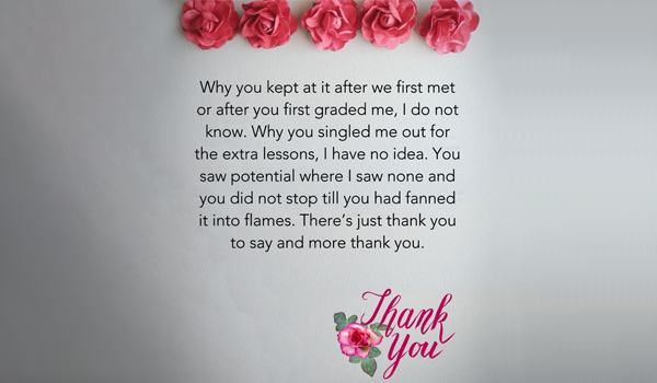A Thoughtful Thank You Note