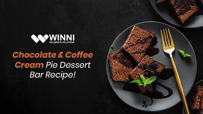 Chocolate & Coffee Cream Pie Dessert Bar Recipe!